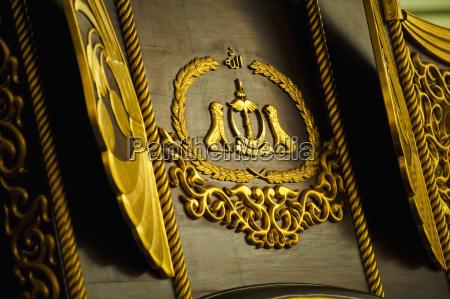 abschluss oben des emblems im koeniglichen