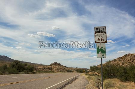 route 66 historisk tegn arizona usa