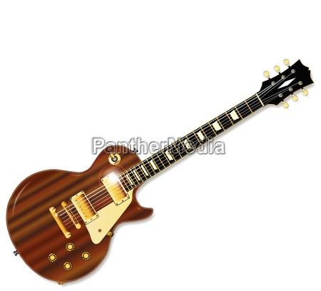 solid mahogni guitar
