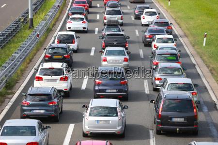 bageste visning af trafikprop af foret