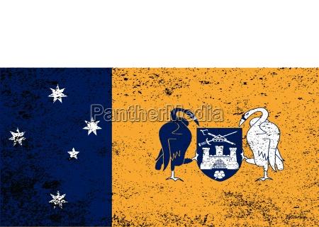 australien down under hovedstad fane flag