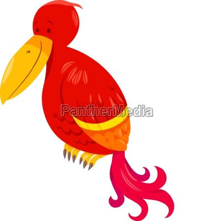funny parrot cartoon animal character