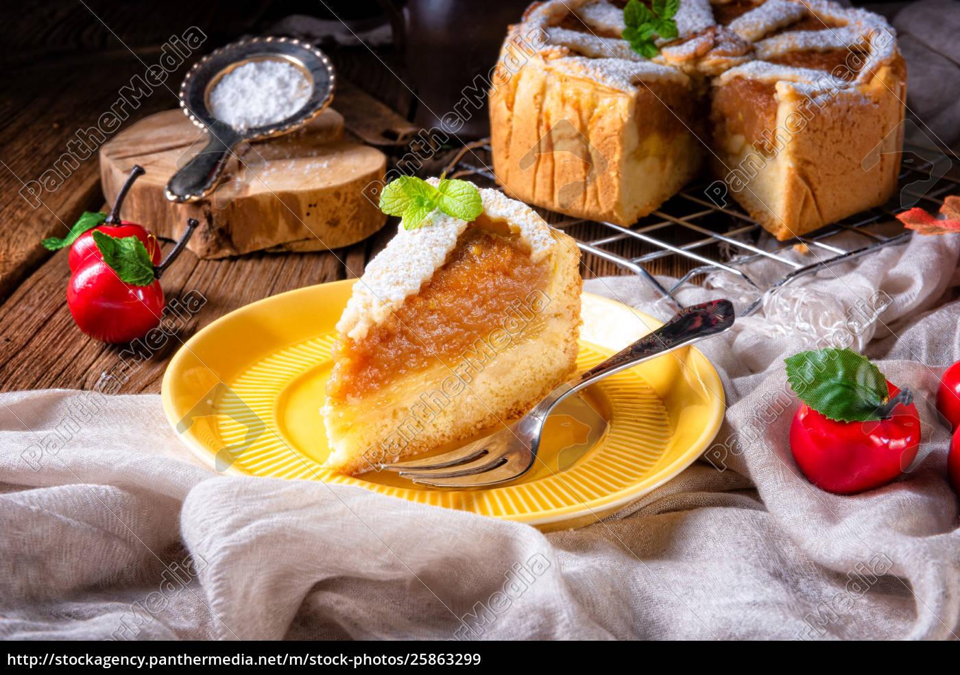 Æbler, dækket, med, en, crunchy, skorpe-det - 25863299
