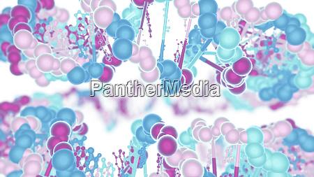 dna strings on white background medical