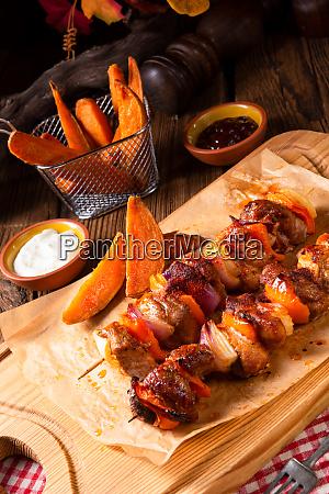 søde, kartoffel, fries, med, krydret, paprika - 25897124