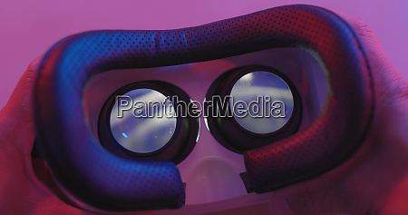 virtual reality playing video inside with
