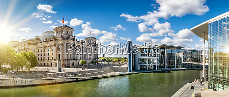 panoramaudsigt pa regeringsdistriktet i berlin ved