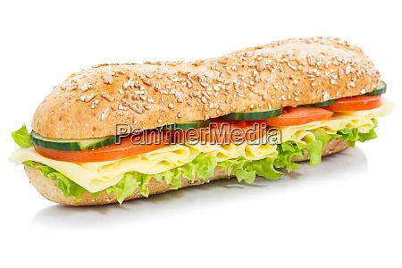 baguette sub sandwich fuldkorn kerner med