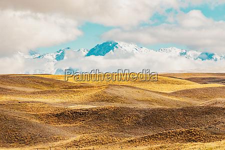 new zealand naturskonne bjerglandskab skudt pa