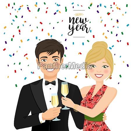 en mand og en kvinde fejrer
