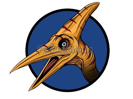 dinosaur pteranodon skitse gravering stil tegne