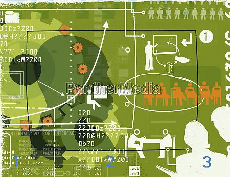 forretningskommunikation collage