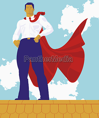 man wearing red cape