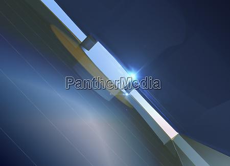 shaft of light shining through narrow