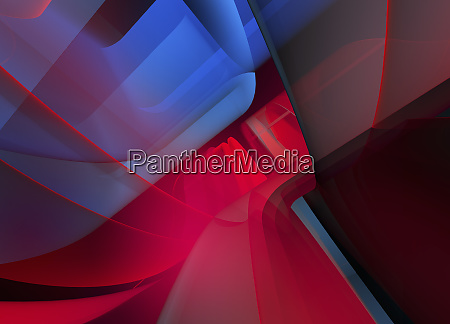 abstract full frame red and blue