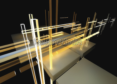 abstract structure of light beams and