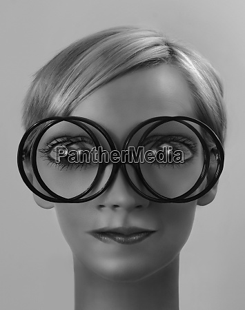 woman with double vision