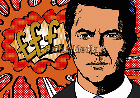 serious businessman worrying about finance with
