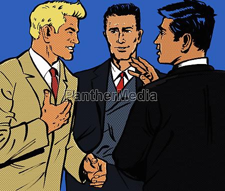 happy businessmen talking