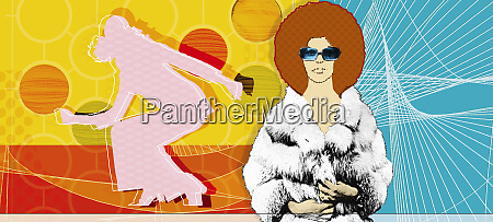 portrait of woman with afro in