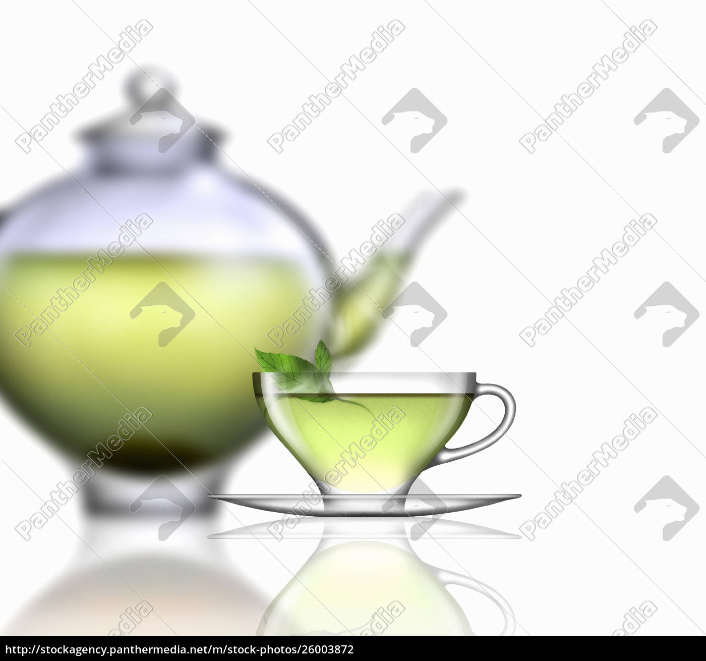 mint, tea, , glass, teacup, , saucer, and - 26003872