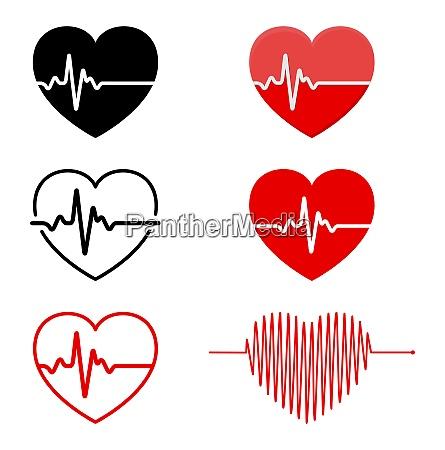 hjerte og ekg ekg signal