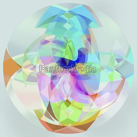 abstrakte mehrfarbige durchlichtkugel