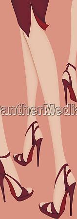 legs of women wearing high heel