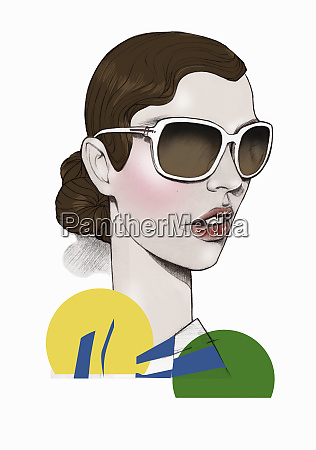 elegant woman wearing large sunglasses