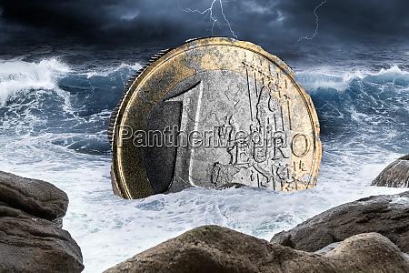 euro europaeisk valutakrise koncept