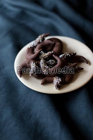 chokolade cookies jul vinter bord