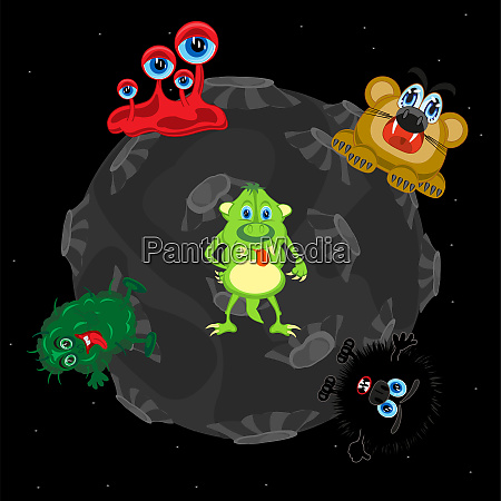 vektor illustration af planeten i kosmos
