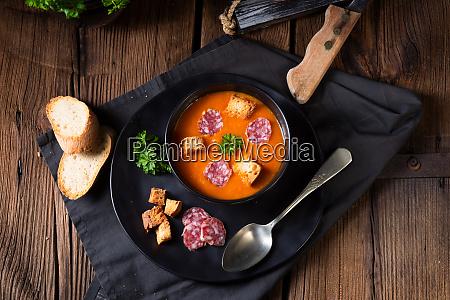 ungarsk paprika flode suppe med krydret