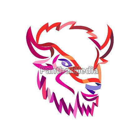 american buffalo ribbon art