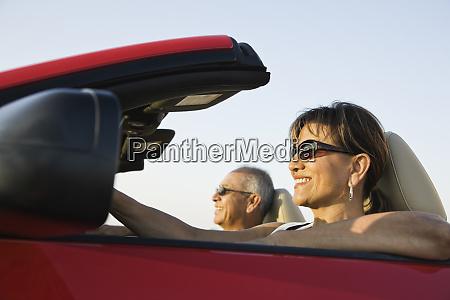 a hip senior hispanic couple on
