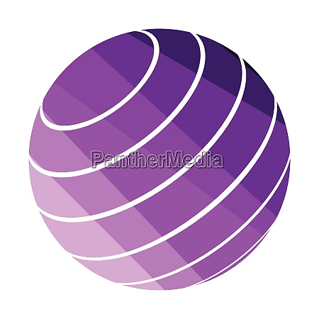 fitness rubber ball icon fitness rubber