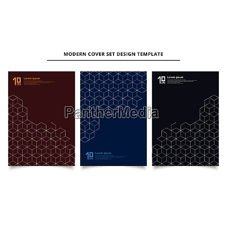 set of modern cover design template