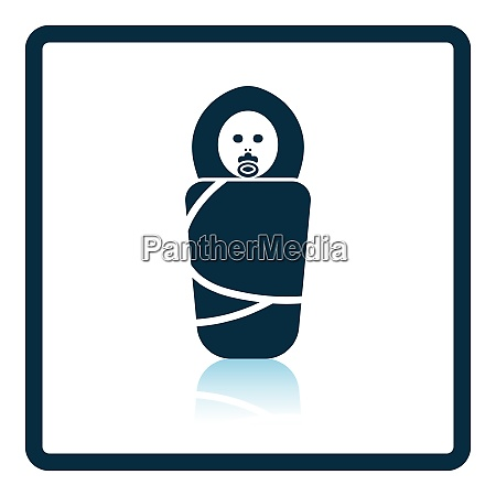 wrapped infant icon shadow reflection design