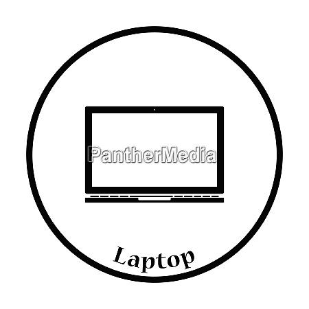 laptop icon flat color design vector