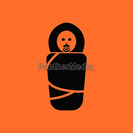 wrapped infant ico orange background with