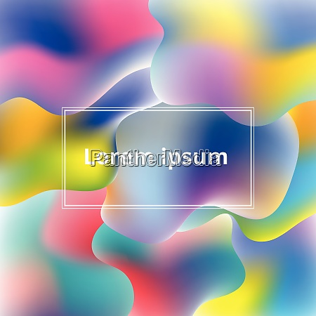 abstract plastic colorful shapes background vector