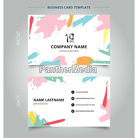 name card template abstract shapes art