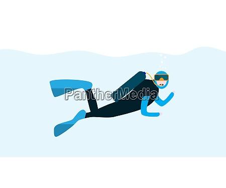 undervands, folk, tegneserie, scuba, diver., konceptet, ekstrem - 26280150