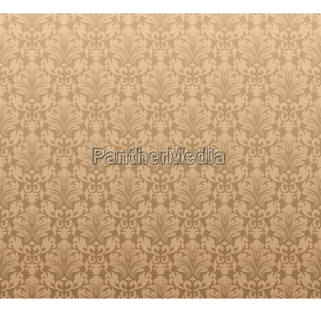damask seamless vector pattern for