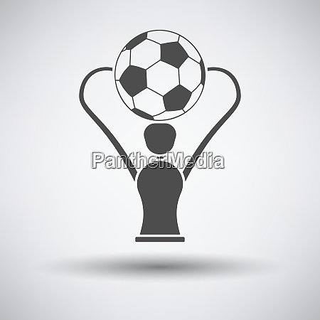 soccer cup icon on gray