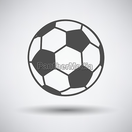 soccer ball icon on gray background