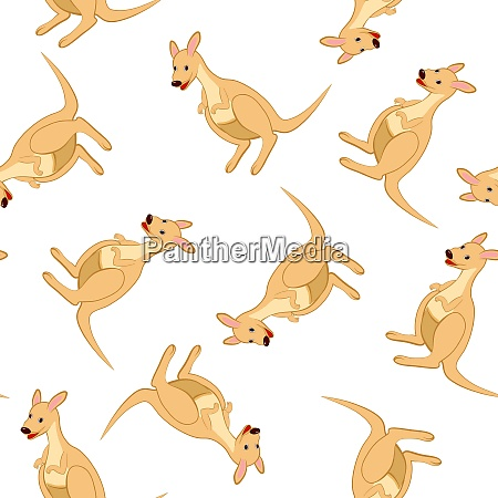 seamless pattern from funny cartoon character