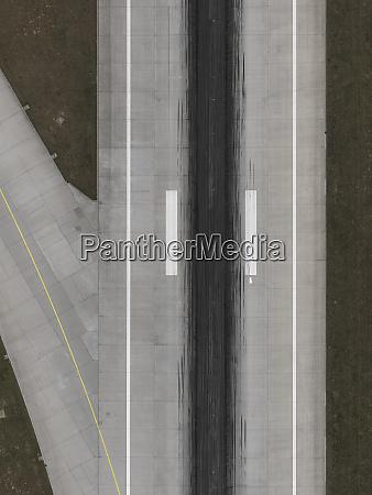 aerial view runway at stuttgart airport