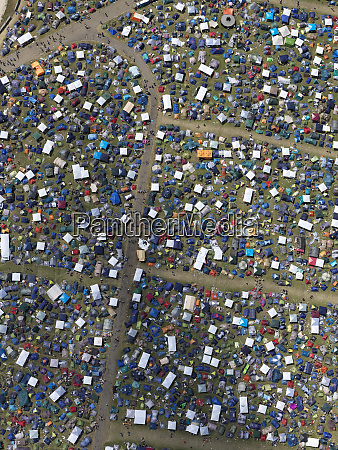 aerial view of sunny southside festival