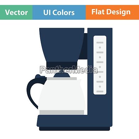 kitchen coffee machine icon flat design